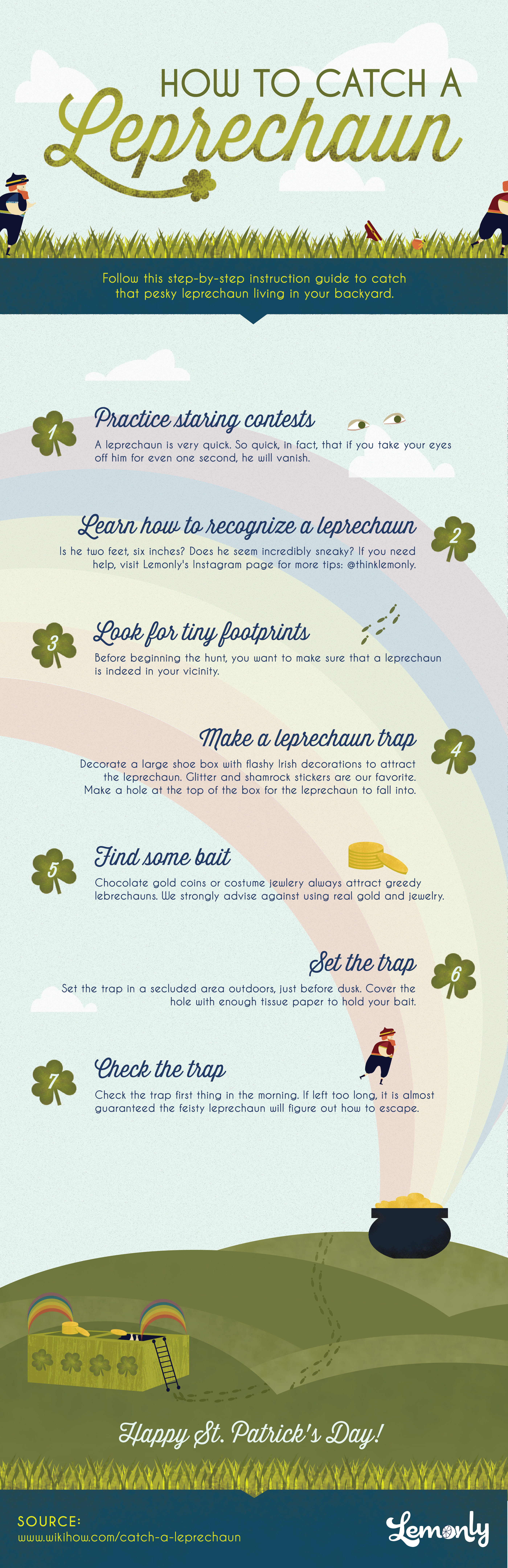 How to Catch a Leprechaun Infographic - Lemonly
