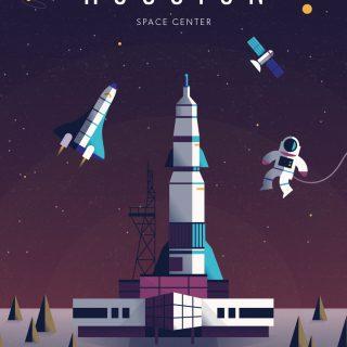 Houston Space Center Poster