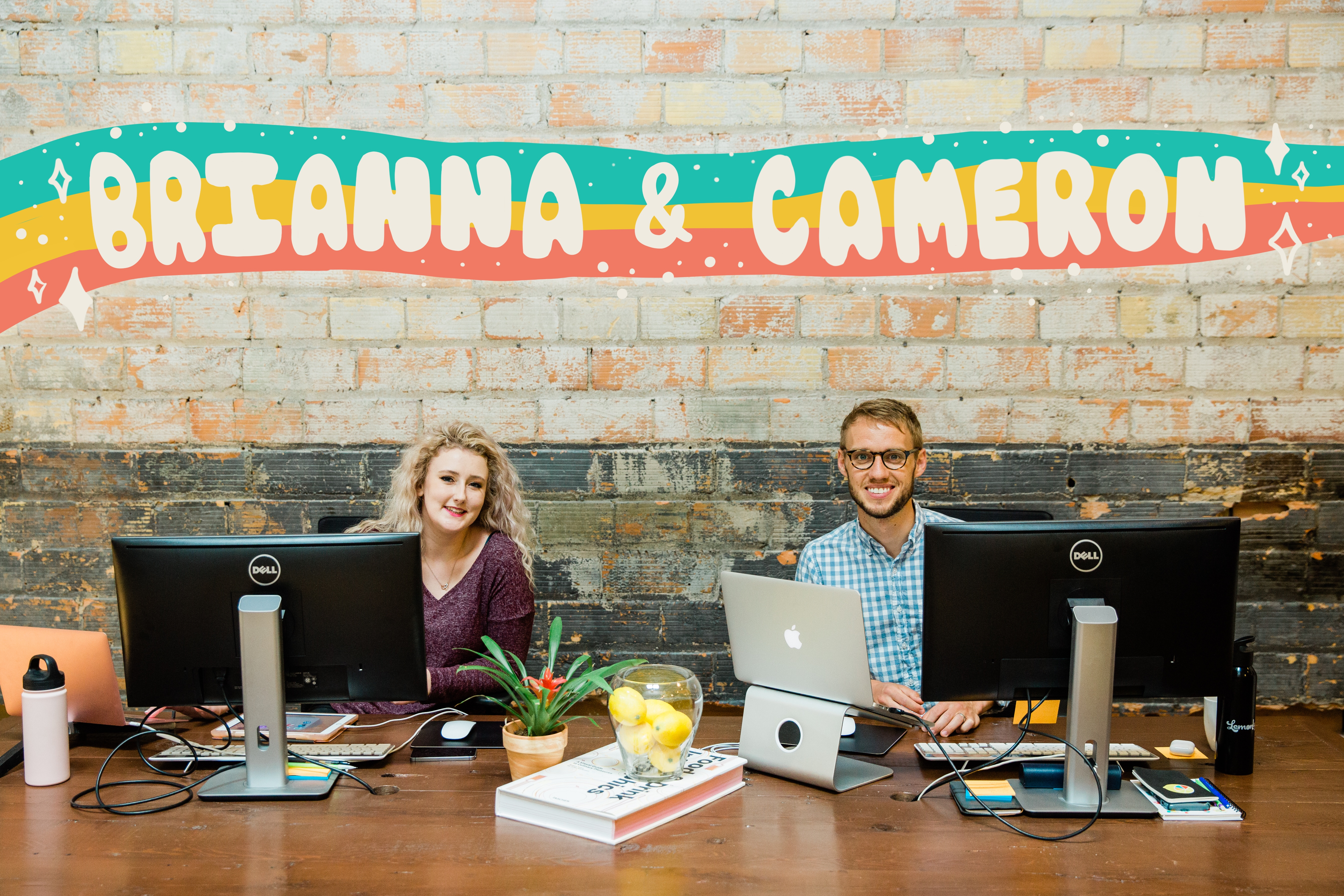 Lemonly summer interns Brianna and Cameron